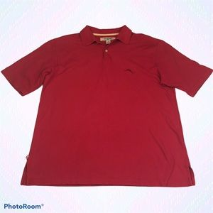 Tommy Bahama Pima Cotton Red Polo Shirt Collared